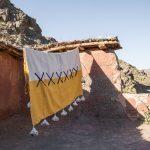 Handgewoven deken zonnegeel wit Tozline origineel